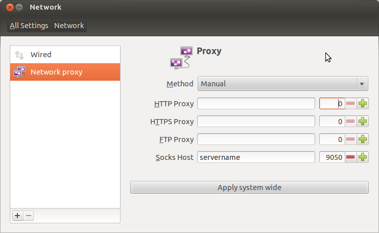 Network configuration for tor in ubuntu